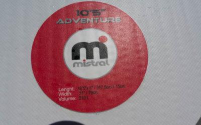 Beschreibung auf dem Mistral Adventure 10.5