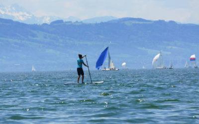 SUPpen bei Wind auf dem Bodensee