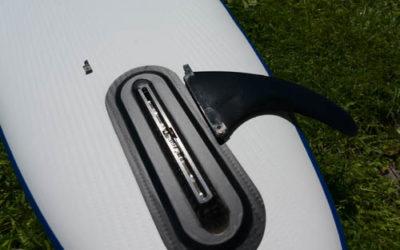 Finne eines aufblasbaren SUP Board für US Finbox zerlegt